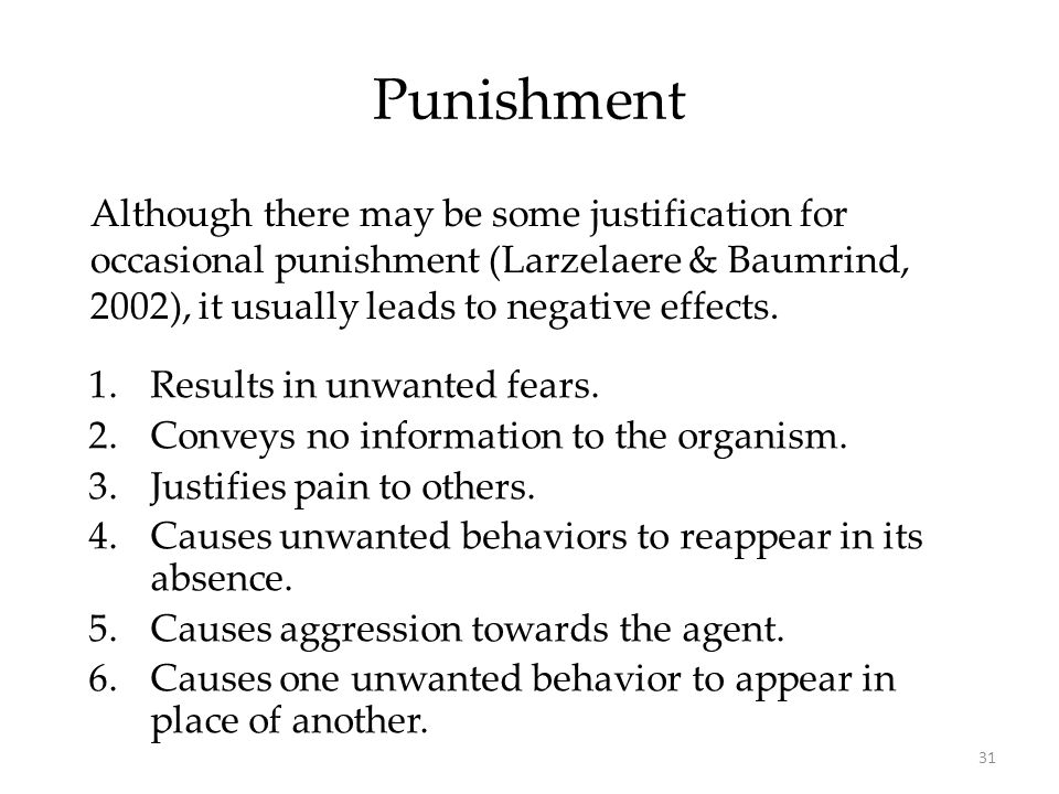 Four types of punishment---?