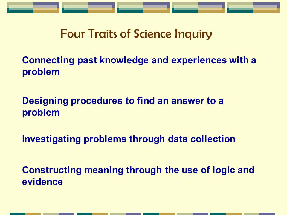 Four Traits of Science Inquiry