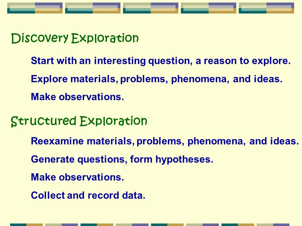 Discovery Exploration