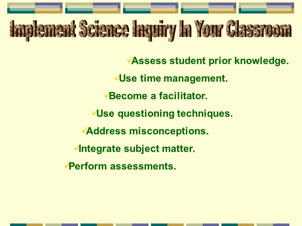 Implement Science Inquiry In Your Classroom