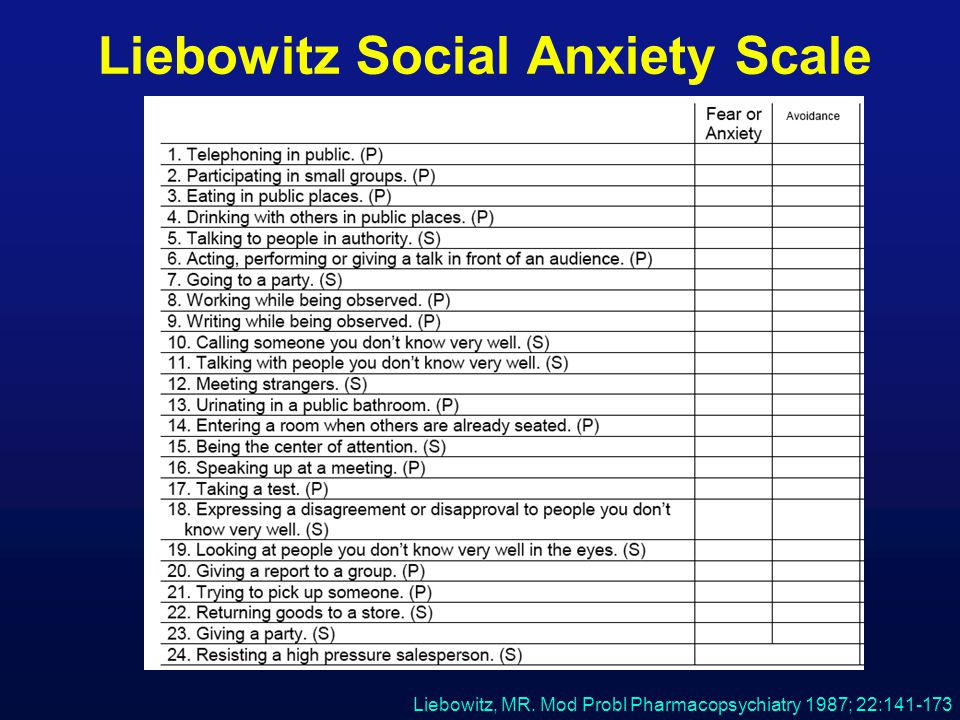 social phobia and anxiety inventory pdf