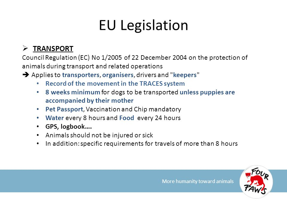 EU Legislation TRANSPORT