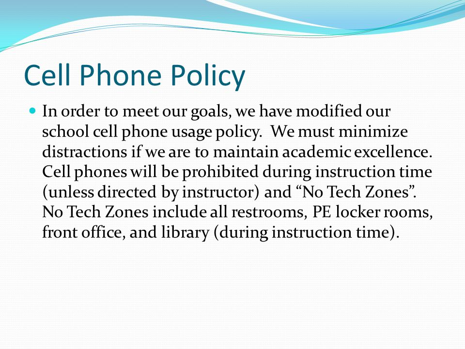 cell phone policy school essay