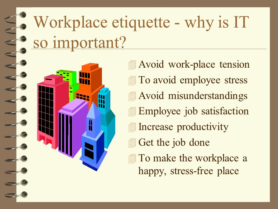 workplace etiquette essay Business etiquette is one of the most important skills any person can posses this days, no matter if you're a student workplace etiquette etiquette essay.