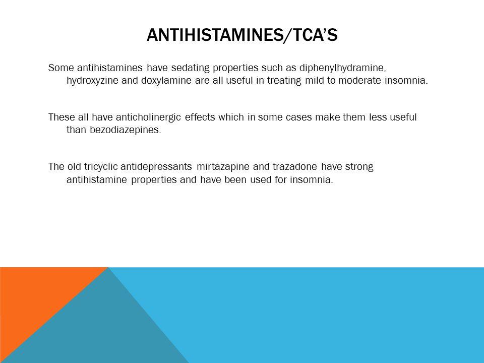 Sedating antihistamines anxiety