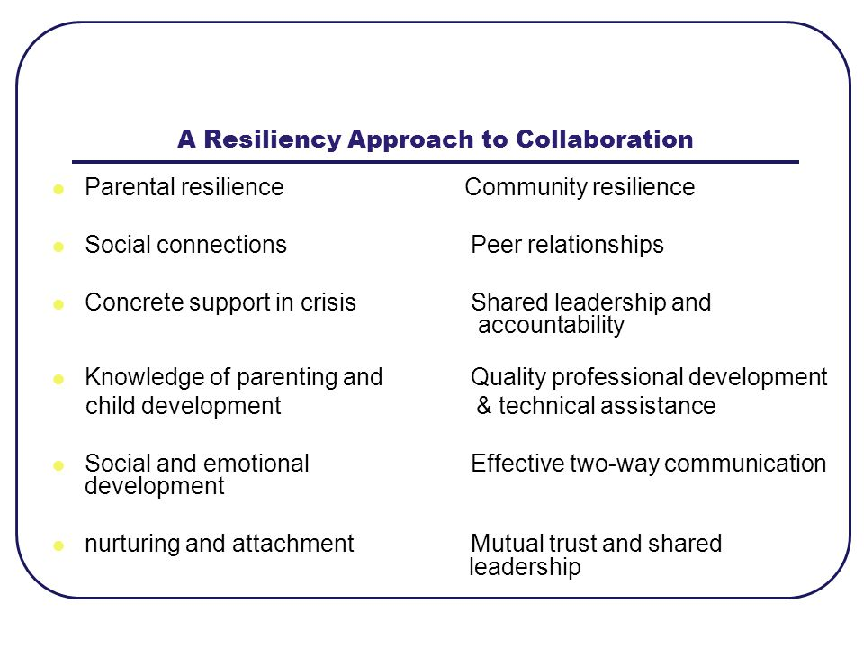 A Resiliency Approach to Collaboration