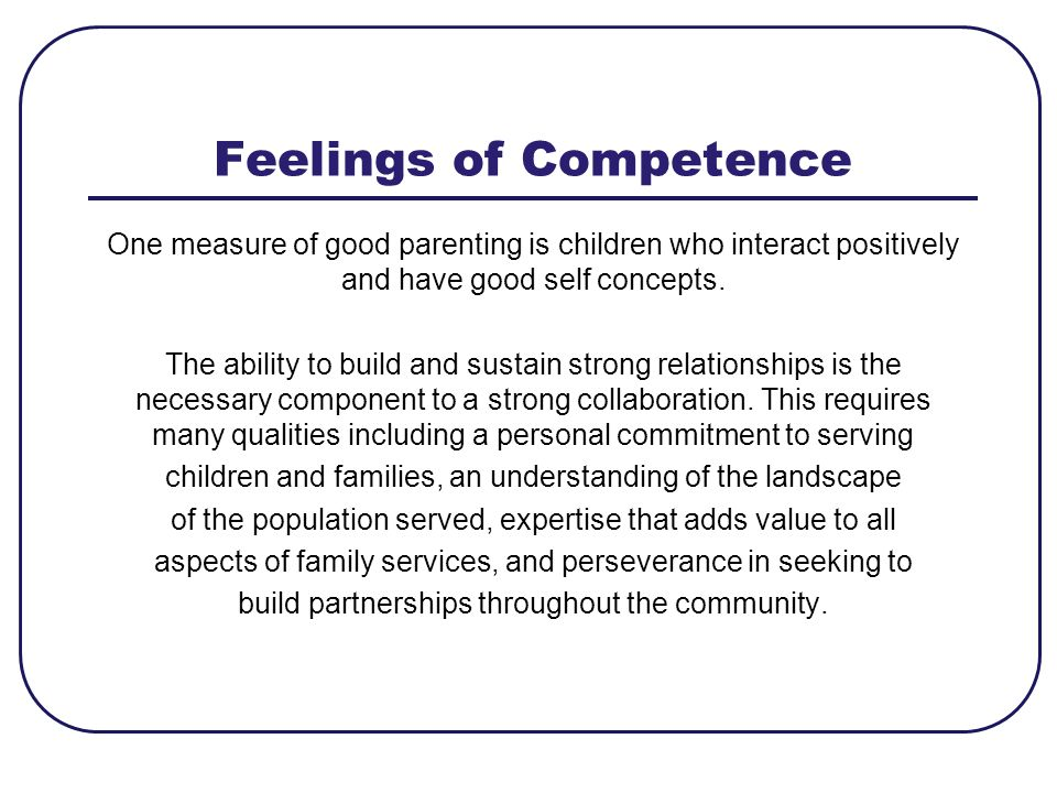 Feelings of Competence