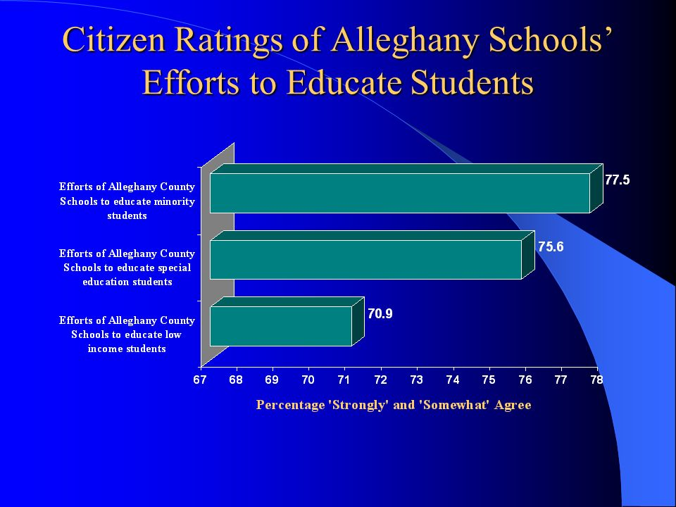 Citizen Ratings of Alleghany Schools' Efforts to Educate Students