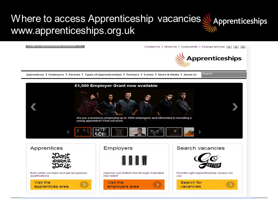 Where to access Apprenticeship vacancies