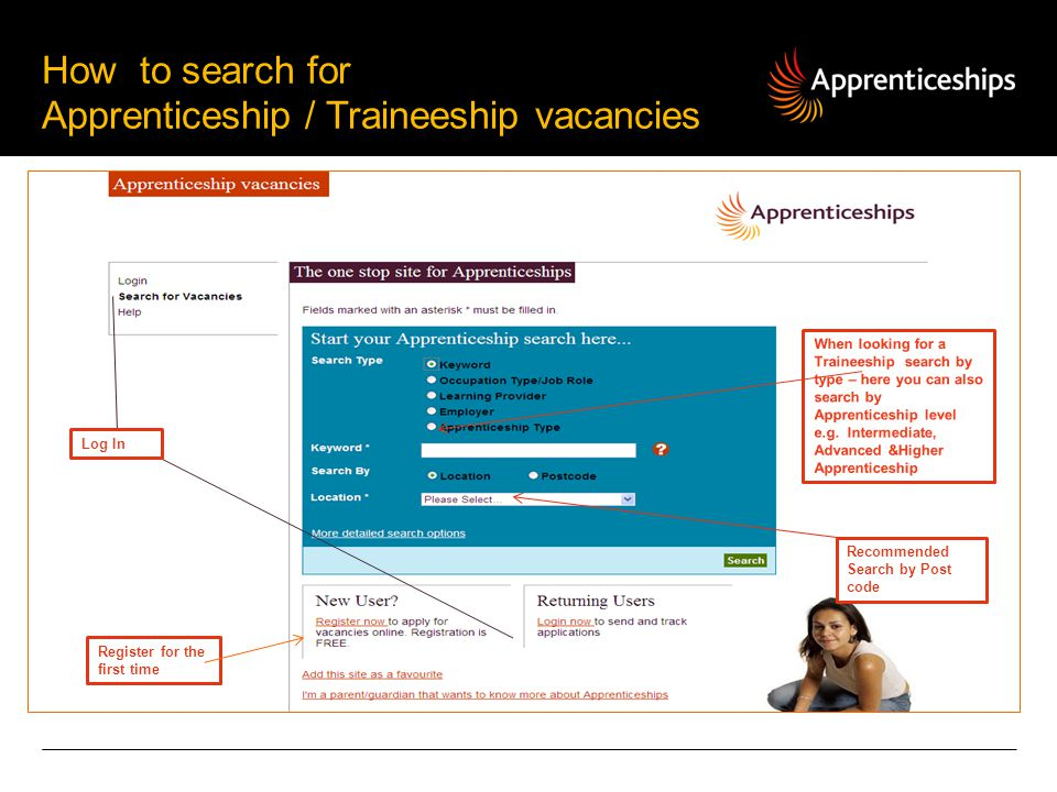 How to search for Apprenticeship / Traineeship vacancies