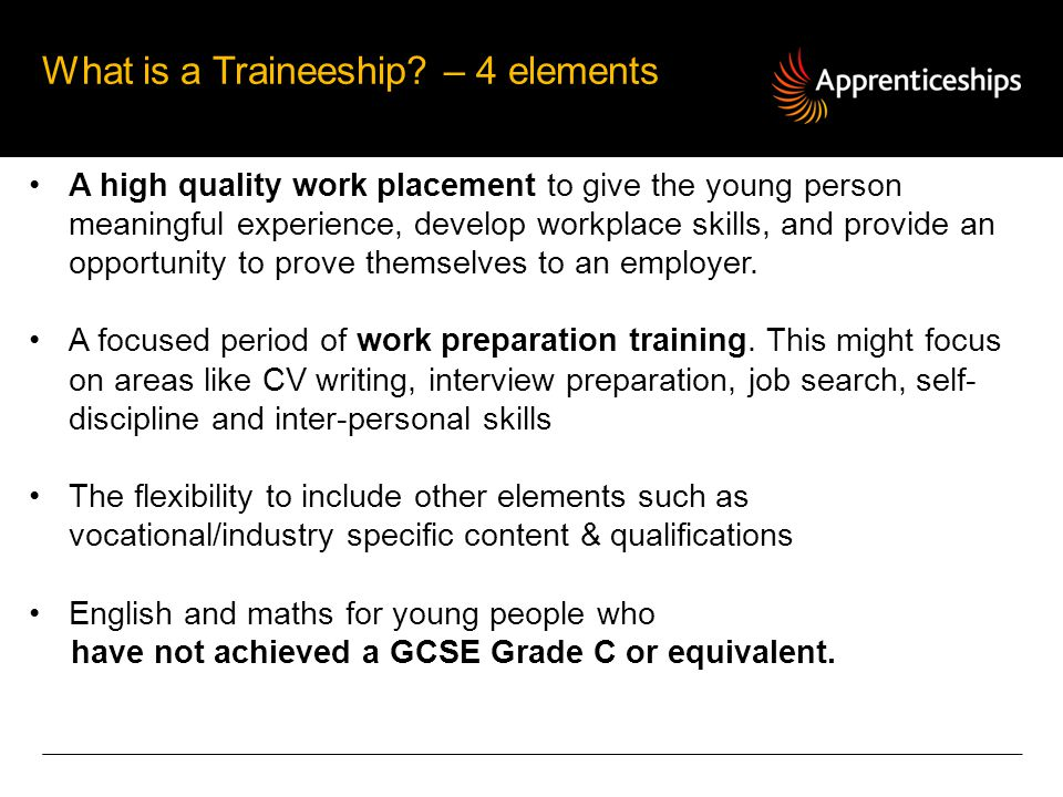 What is a Traineeship – 4 elements
