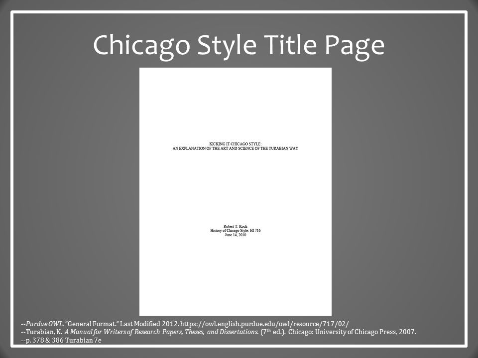 Cover page essay example chicago style cover page