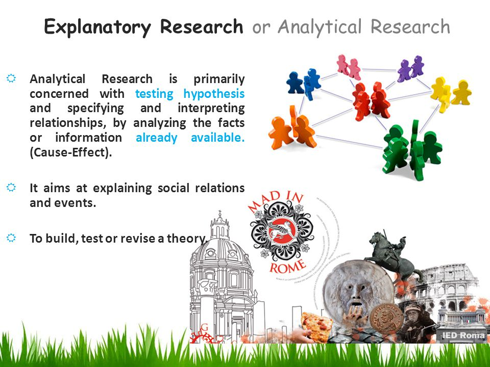 exploratory and descriptive research Exploratory research is usually carried out when problem is not well identified or it has not been visibly defined as yet, or its real scale is as yet unclear.