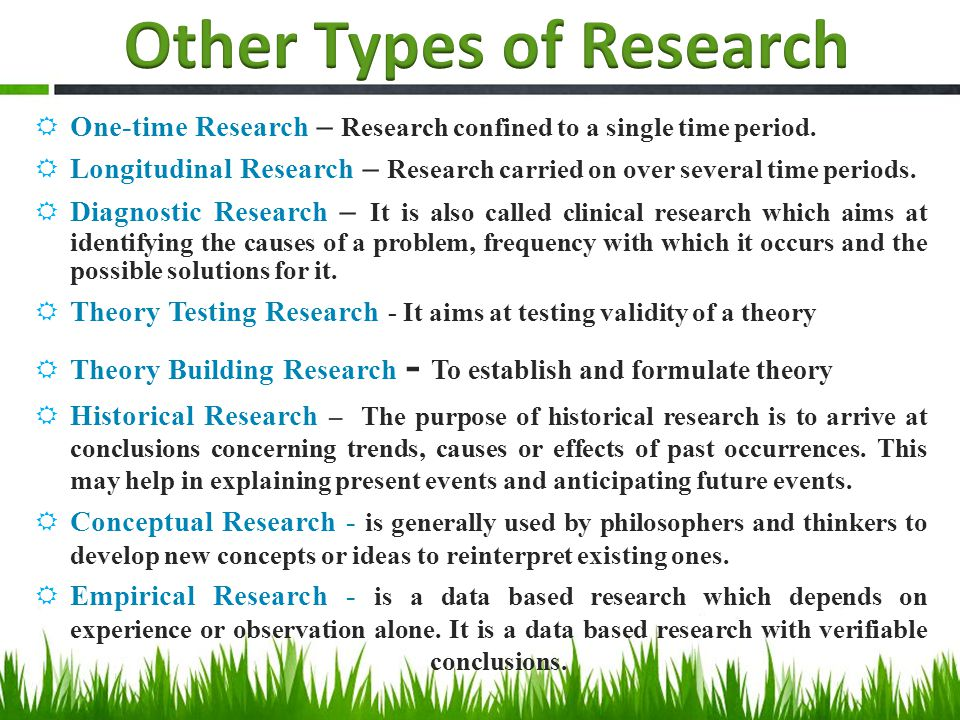 types of methodology for research paper Types of research research can be classified in many different ways on the basis of the methodology of research, the knowledge it creates, the user group.