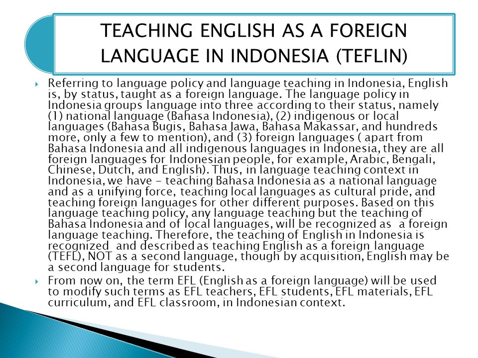 english as foreign language efl teaching What is the difference between english as a foreign language and english as a second language firstly, efl is essentially a uk term whereas esl is an american term beyond that, a distinction is made between teaching english to non-native speakers in a non-english speaking country (efl) and.