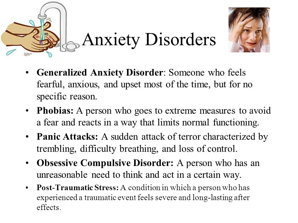 effects of an unreasonable fear A phobia (anxiety disorder) is an overwhelming and unreasonable fear of an  object or situation that poses little real danger but provokes anxiety and  avoidance.