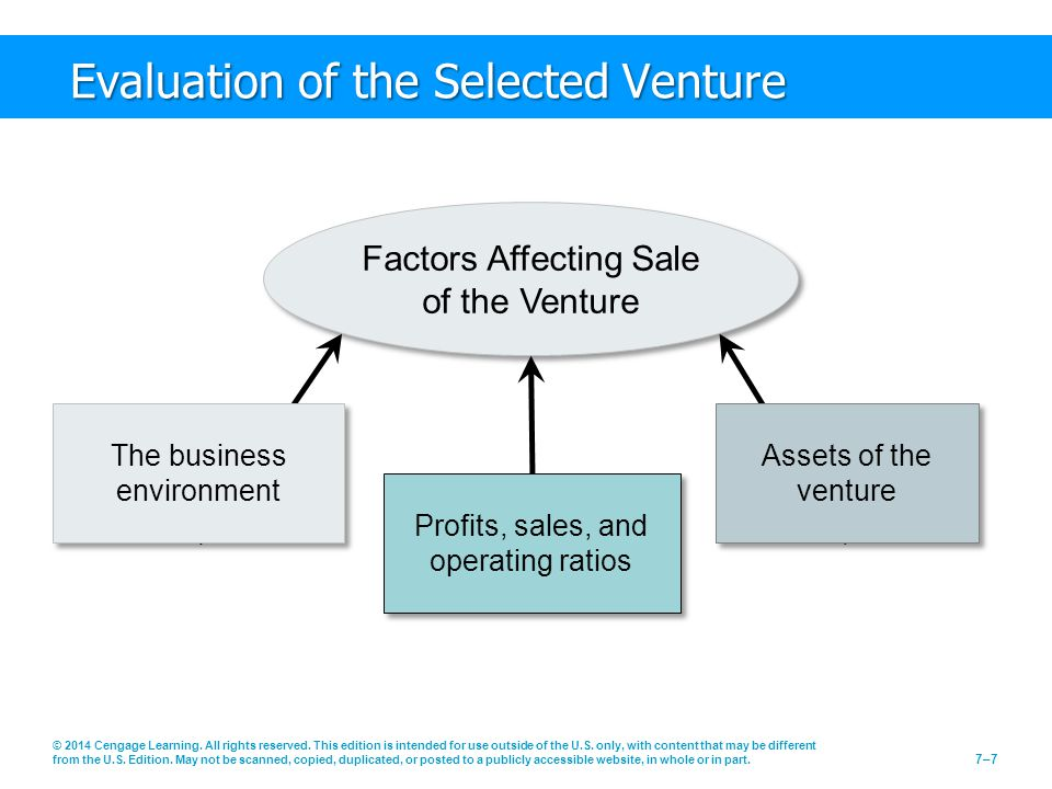 Evaluation of the Selected Venture