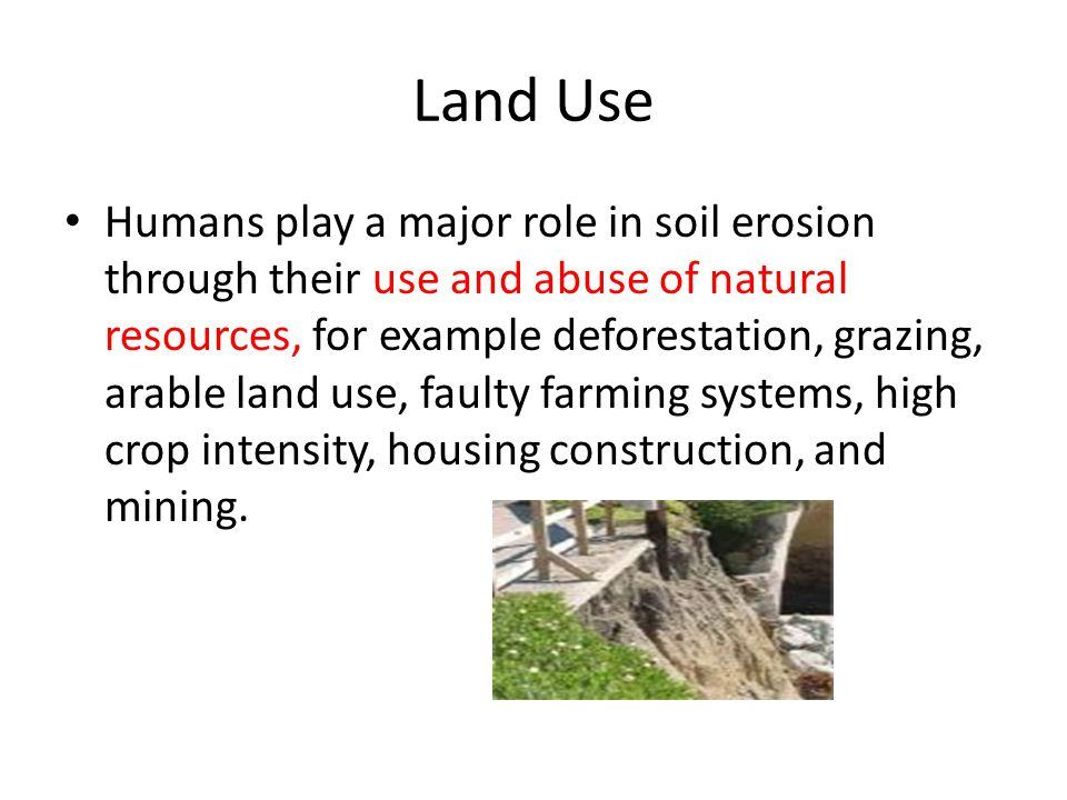 What is erosion the word erosion is derived from the for Land and soil resources definition