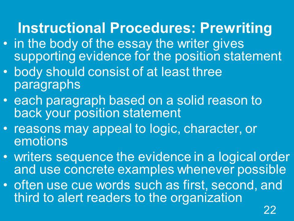 Logical order essay writing