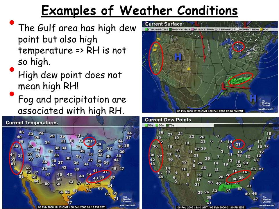 Examples of Weather Conditions