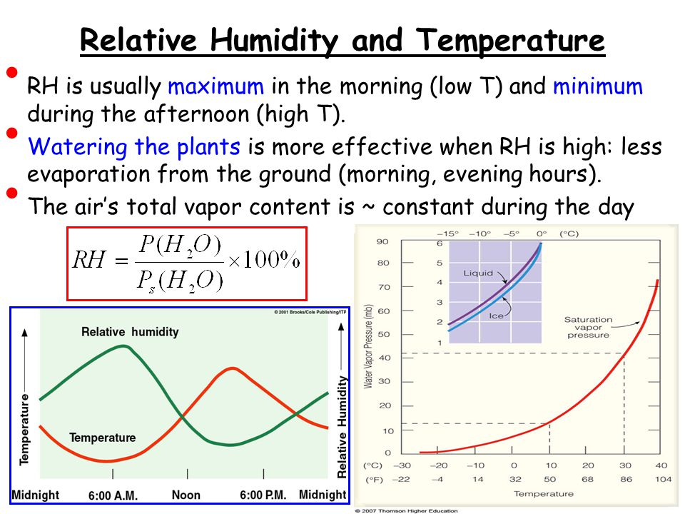 Relative Humidity and Temperature