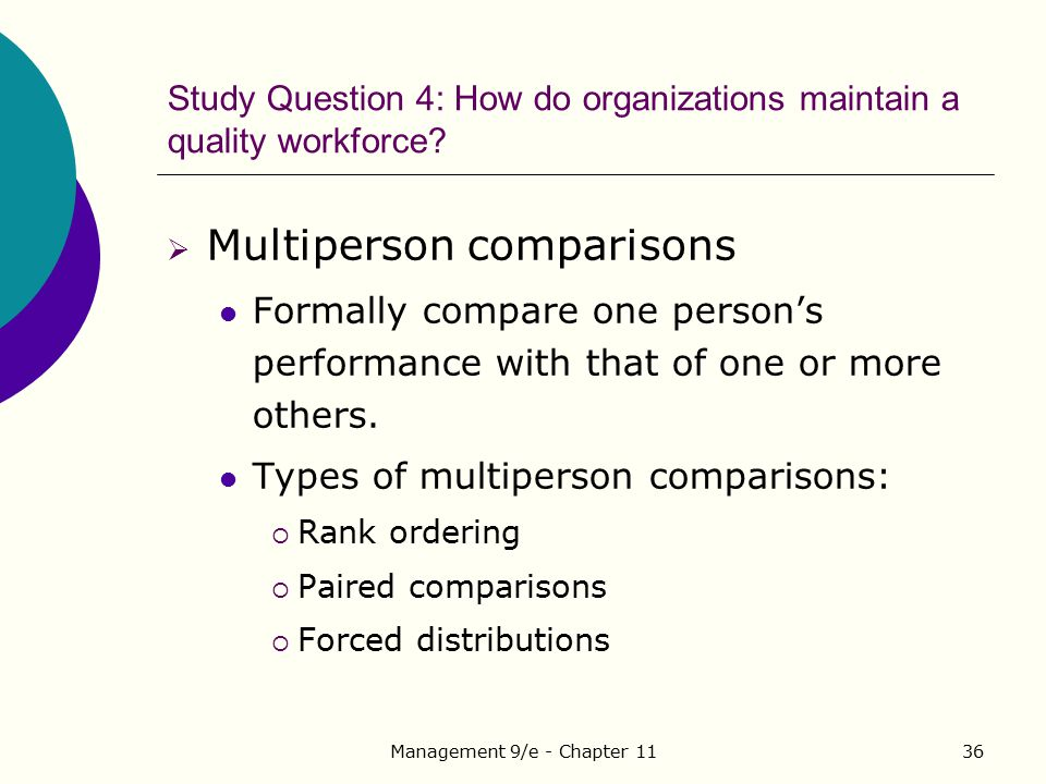 Study Question 4: How do organizations maintain a quality workforce