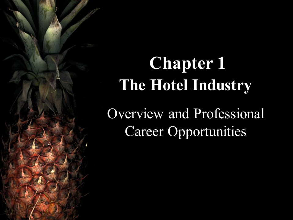 Chapter 1 The Hotel Industry Overview and Professional Career Opportunities