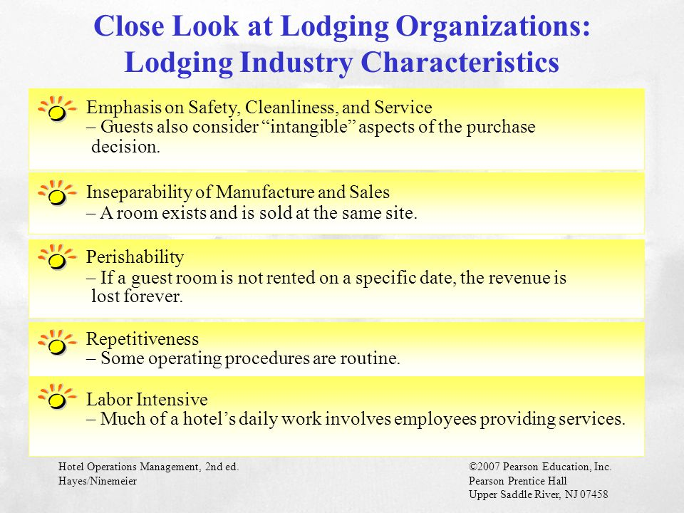 Close Look at Lodging Organizations: Lodging Industry Characteristics