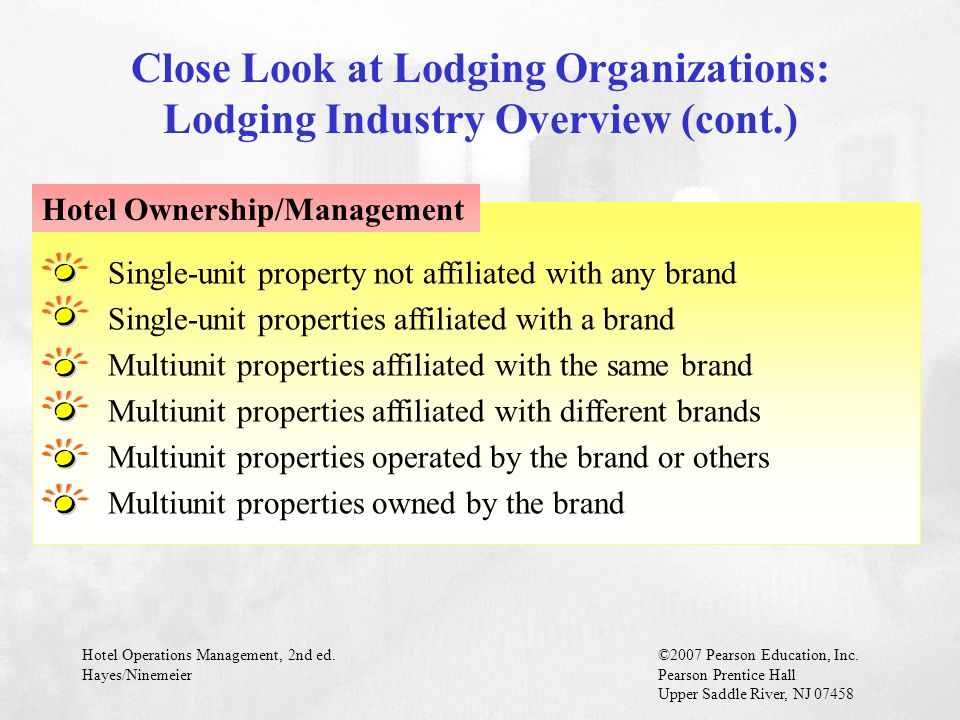 Close Look at Lodging Organizations: Lodging Industry Overview (cont.)