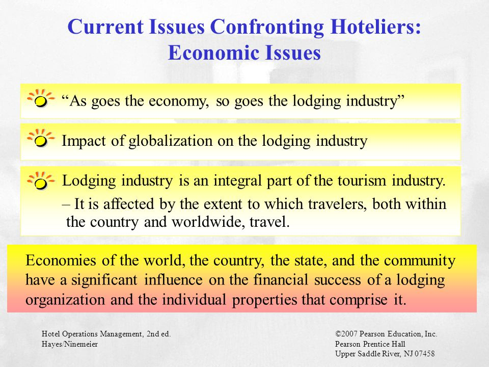 Current Issues Confronting Hoteliers: Economic Issues