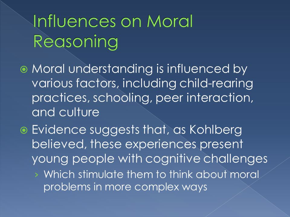 The role of social factors in fluencing the moral development