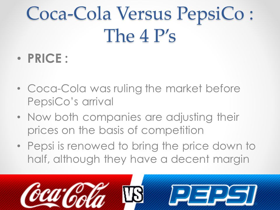Coke vs. Pepsi 2001 (v. 1) HBS Case Analysis