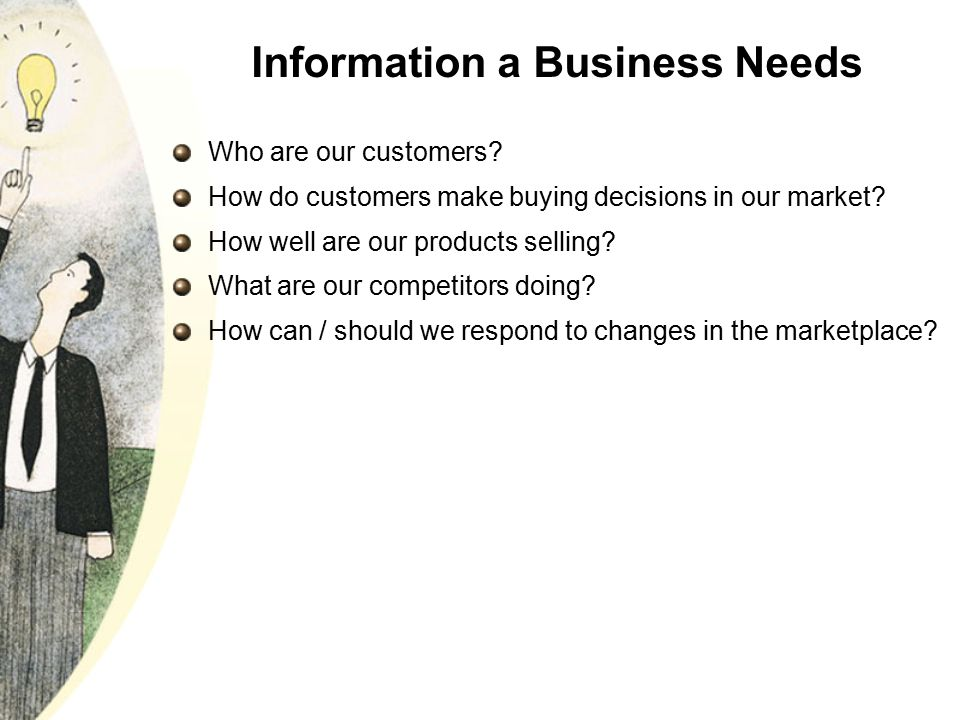 Information a Business Needs