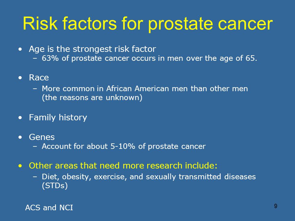 Prostate Cancer Sexually Transmitted