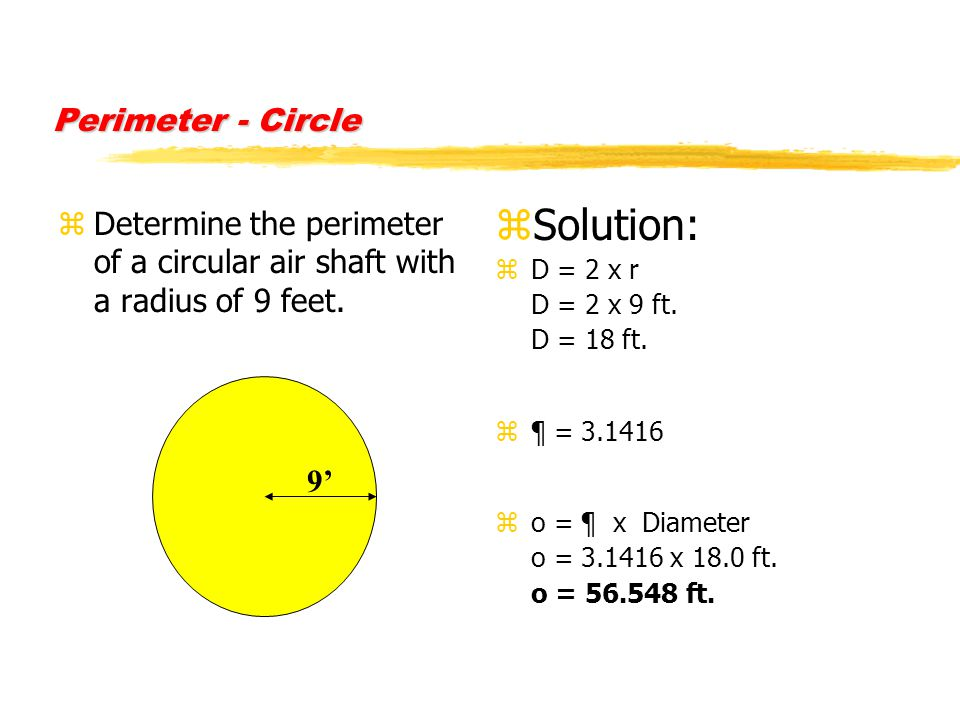 how to find perimeter of a cirle