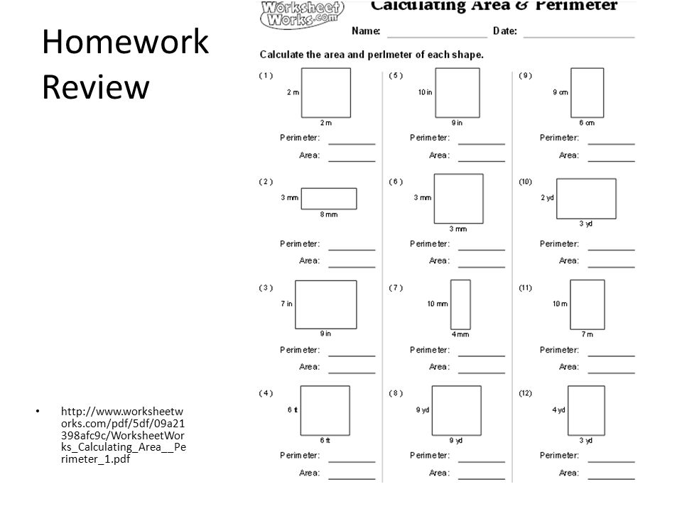 Worksheet Works Calculating Area And Perimeter Answers Oaklandeffect