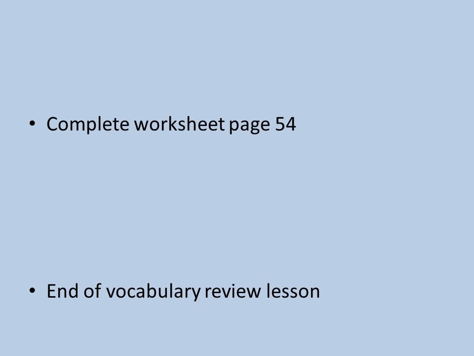 Unit 1 Review Which skills help us make our way in the world – Skills Worksheet Vocabulary Review