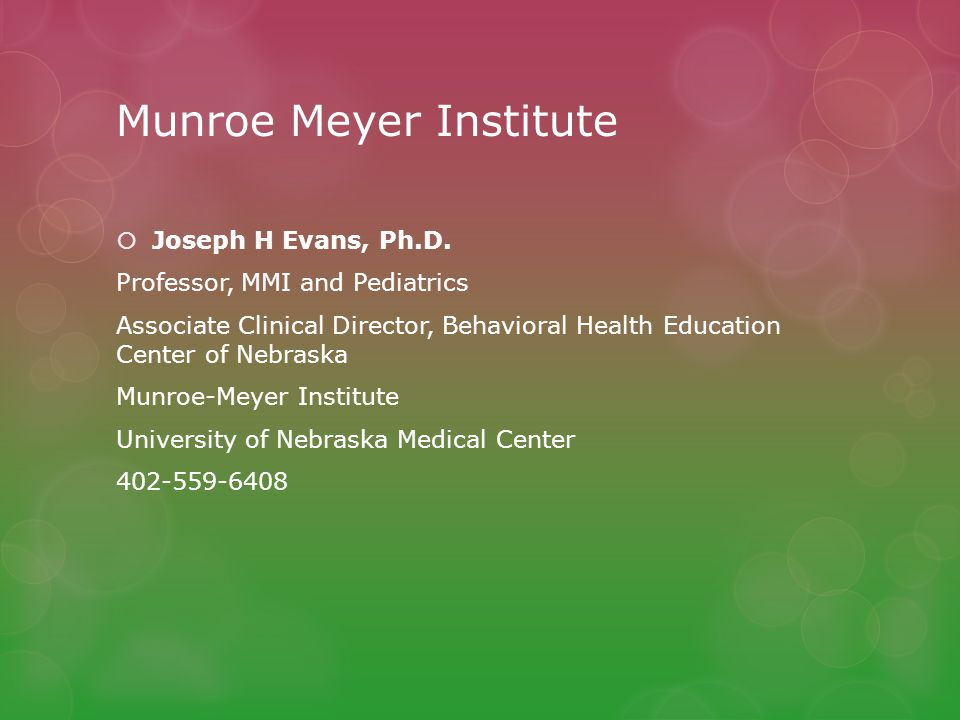 Munroe Meyer Institute