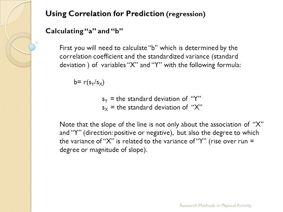 Using Correlation for Prediction (regression)