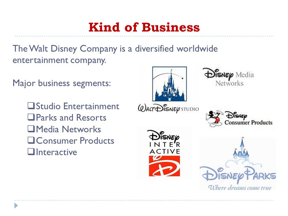 the walt disney company and diversification