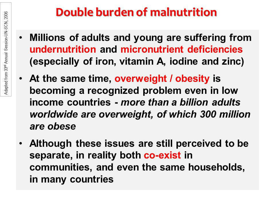 Double burden of malnutrition