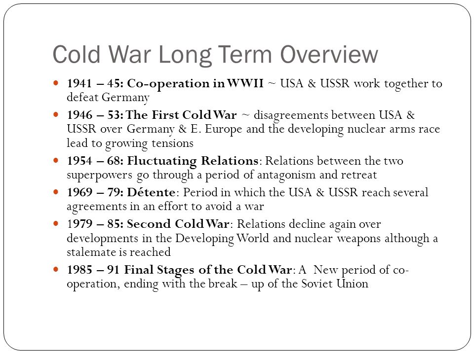 2 The Cold War