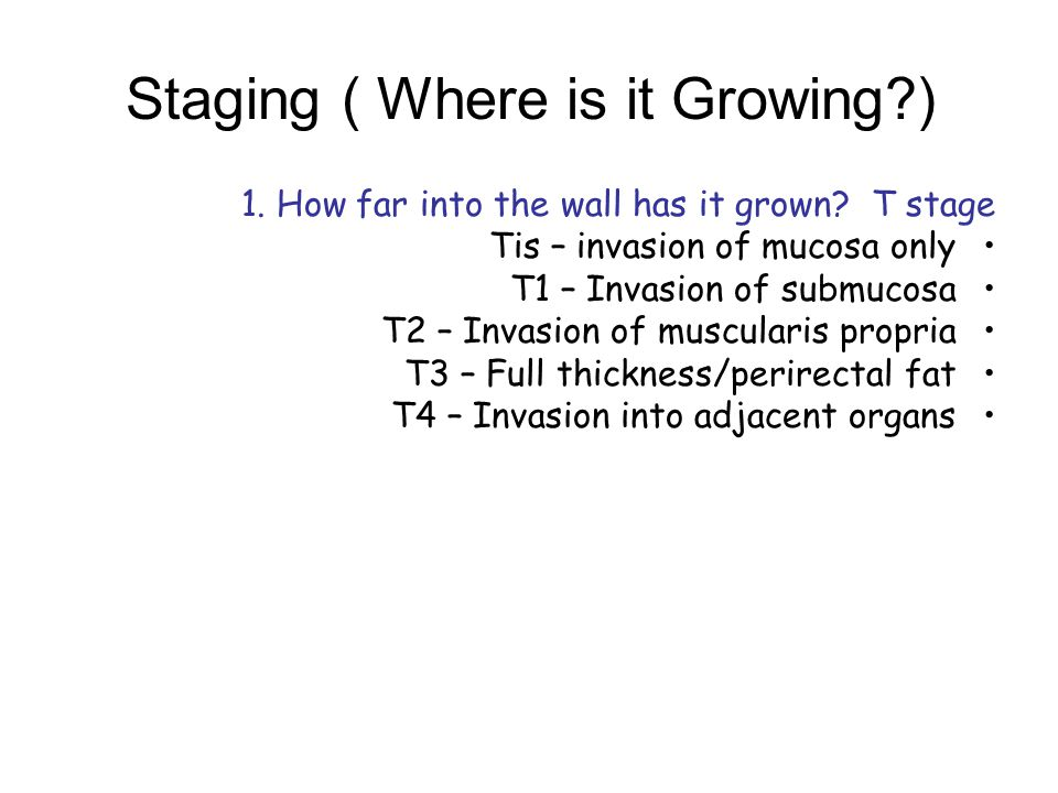Staging ( Where is it Growing )