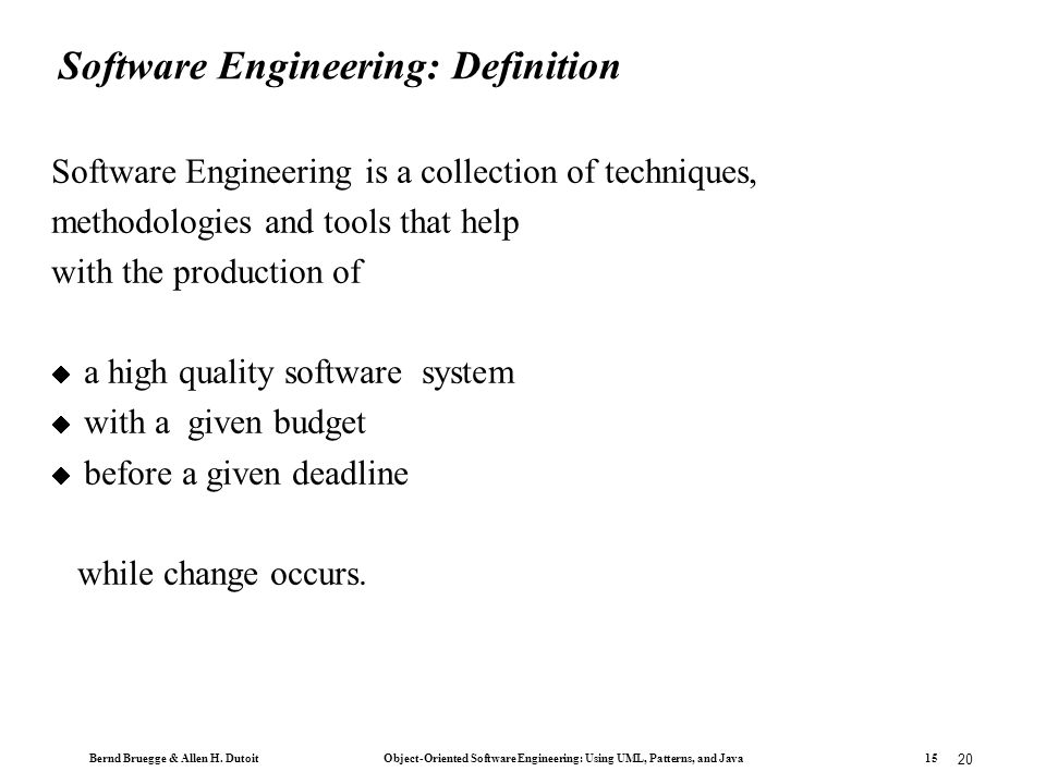 the formal methodologies in software engineering The formal methods model is concerned with the application of a mathematical technique to design and implement the software this model lays the foundation for.