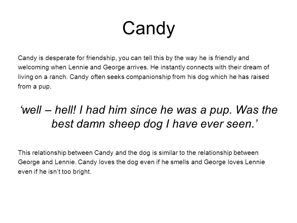 of mice and men friendship ppt video online  4 candy