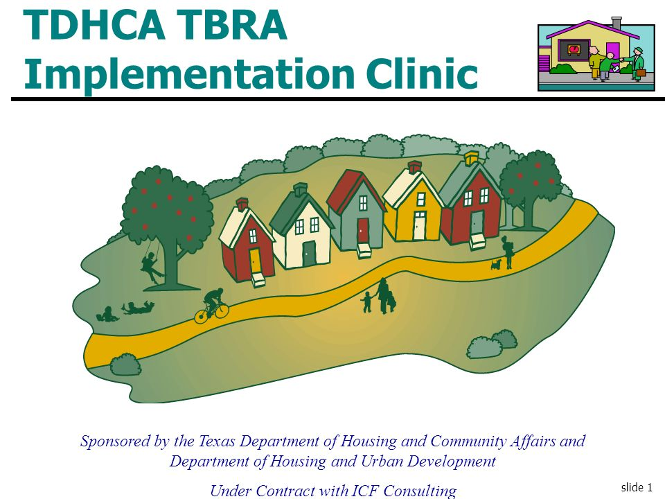 TDHCA TBRA Implementation Clinic
