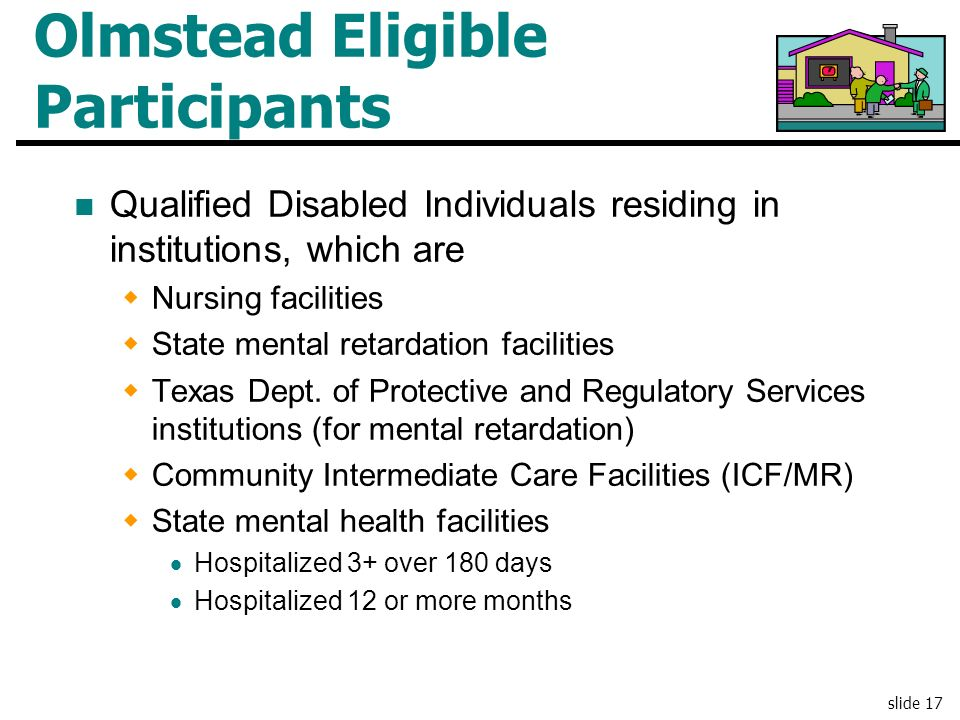 Olmstead Eligible Participants