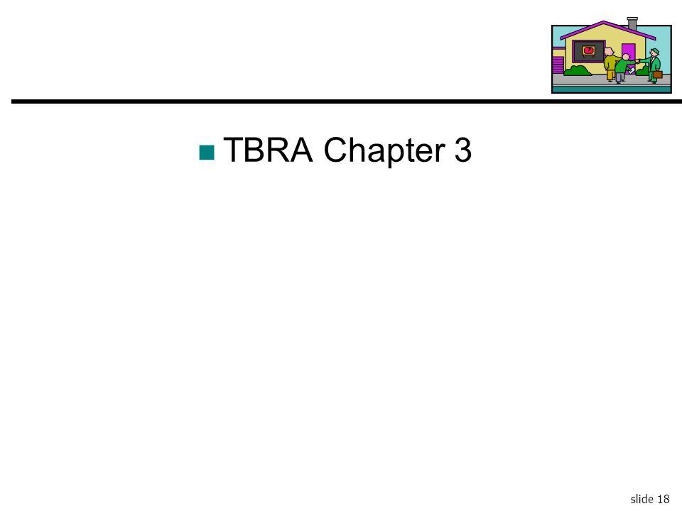 TBRA Chapter 3