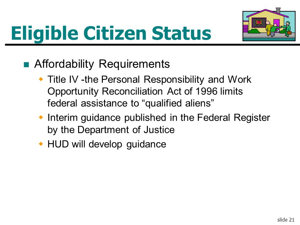 Eligible Citizen Status