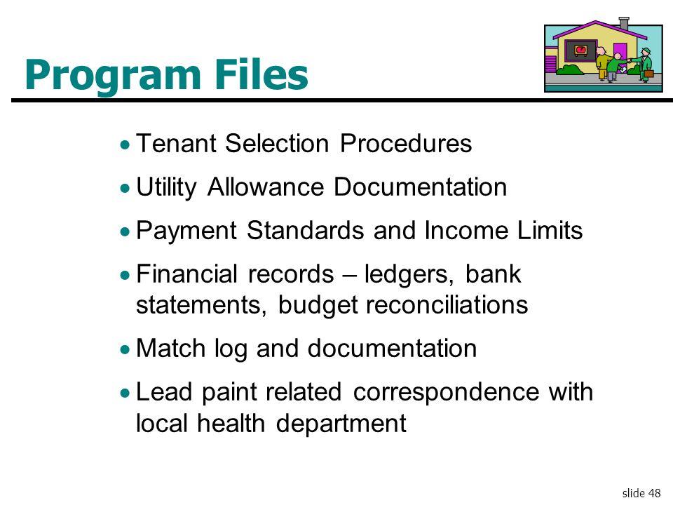 Program Files Tenant Selection Procedures